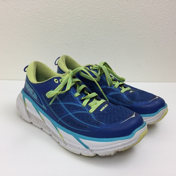 size 40 63c80 e1d14 Hoka One Clifton 2 Blue Running Shoes Sneakers 7